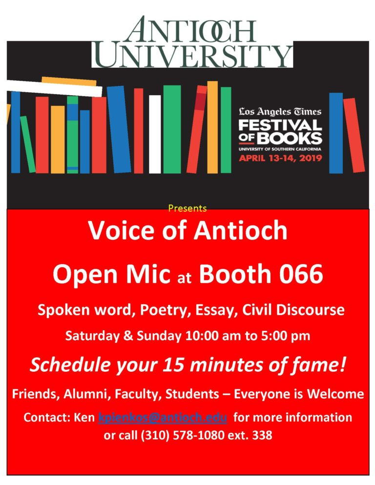 April 2109-Voice of Antioch Open Mic event flyer